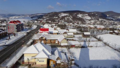 Iarna pe ulițele satului Cășeiu