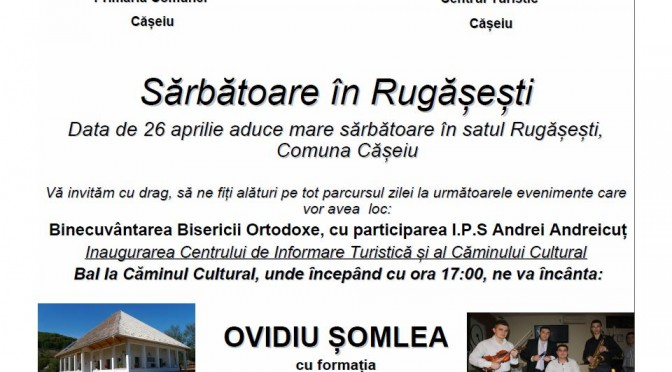 Binecuvântarea Bisericii Ortodoxe și bal la Rugășești